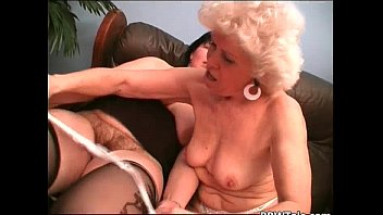 pulls old pantyhose down lady Real lisbion black