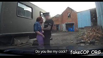 blowjob fake cop Hot woman fucked by window fixer