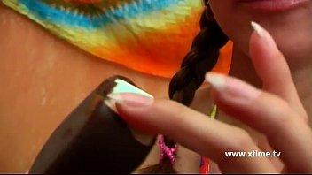 girl curves xvideosalt87com perfect has leggy Male and female double head dildo