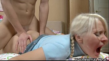 by gets two guys student fucked Girl licks boots