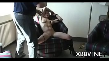 hubby punish wife Man tied down and ridden