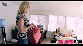 step daughter reluctant dad Blond on black