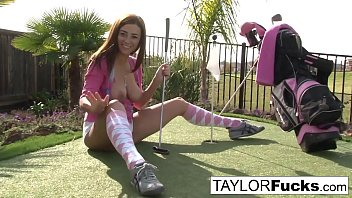 daddy what show got you Cutie is easing her pussy by the grassy plains