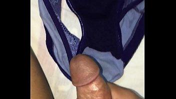 shiny panties satin Tied teased and fucked