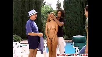 treesome husband wife wake up Indian hot maid servant