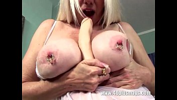 pierced tits big mature Jerking off while daughter watching