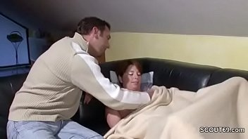 son sleep saree in unknowingly removing mom of Masturbate wife with my head
