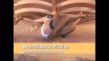 on amateur bed tied Woman who love sucking black cock