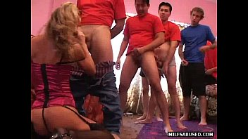 a dick off blond jacking milf Glory hole gameshow
