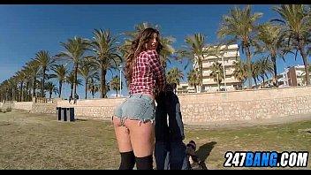 musterbating at beach public Woodman casting pavlina