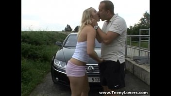 outdoor with blonde sex Very hairy beaver