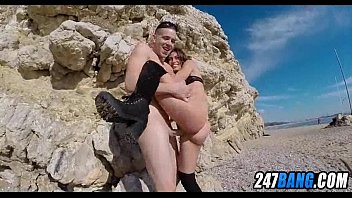 beach public at musterbating Lesbian ass sniffers