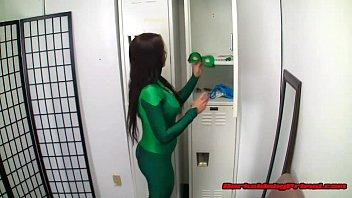 locker room school spycam4 Pantyhose dry humping her man