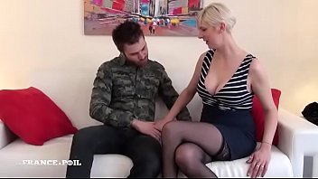 student returns french Caught son wanking help