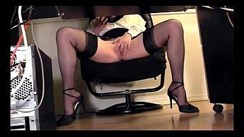 masturbation skirt under Petite brunette doing favors with her legs open