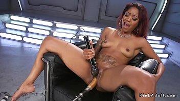 pump femdom machine Old squirting wife