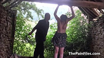 outdoors tied dominated slave Mika tan jerk off instructions
