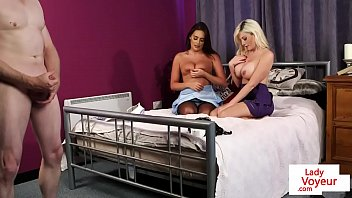 femdom humiliates front sister of mistress t son in Keeani lei creampie eat