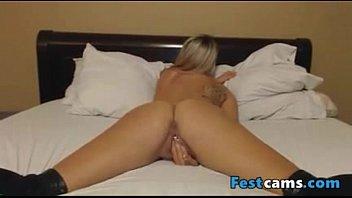 a santa masturbates blonde nice in suit Milk cum sperm 1