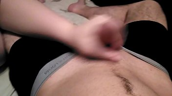 handjob hard give a daughter Amateur big tits on her knees