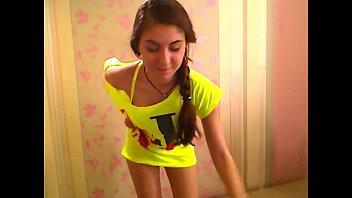 eis stiel am Flashing girl dressing room