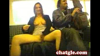 a train on masturbation public Muscle worship handjob