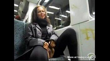 a train public masturbation on Wife seduce in the park part 2