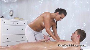 sucks masseuse busty dick big Cartoon mom son anal