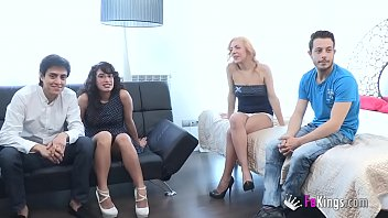 3 firnds chatroulette party Big tit girlfriend teaseing friends